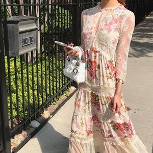 Zara dress lacy floral
